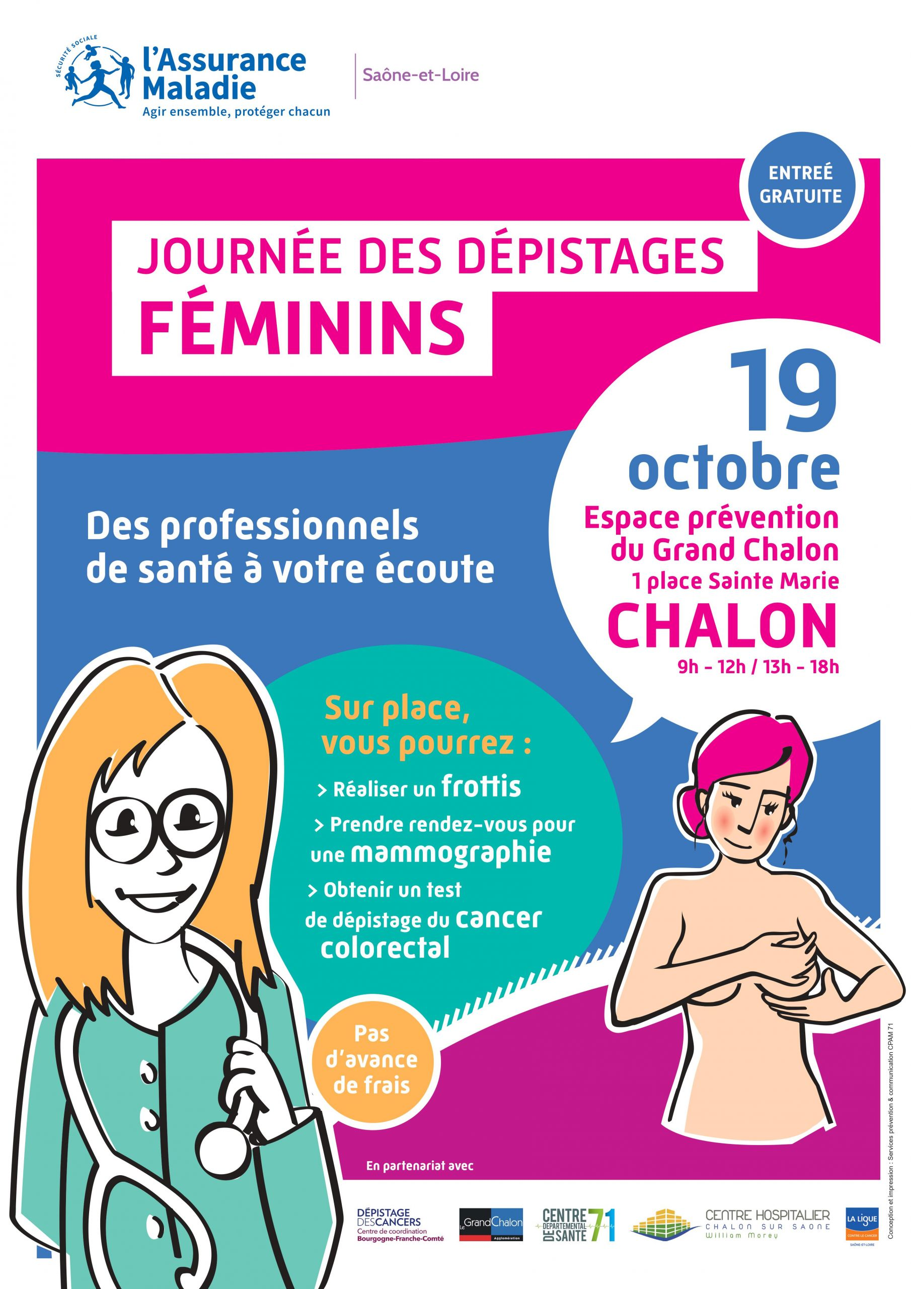 Journée des dépistages féminins